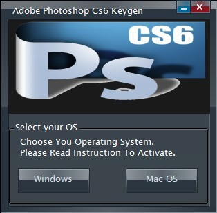 Adobe Photoshop cs6 serial key for mac