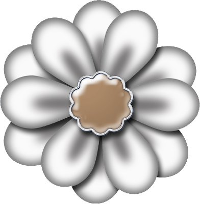 Free White Double Digital Scrapbook Flower 44