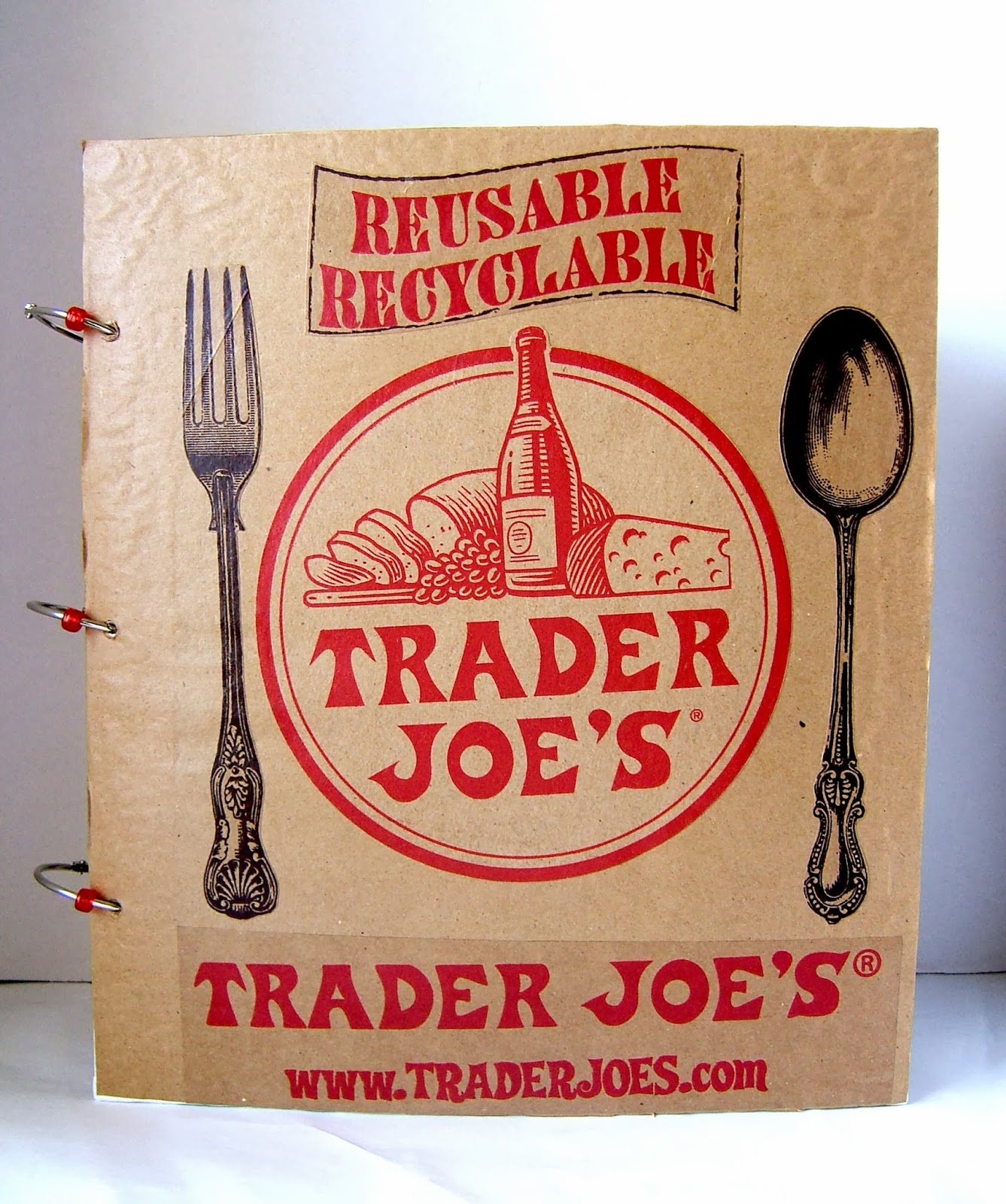 How To Make A Book Cover With A Trader Joe S Bag : Pearllight studio big trader joes food journal diy