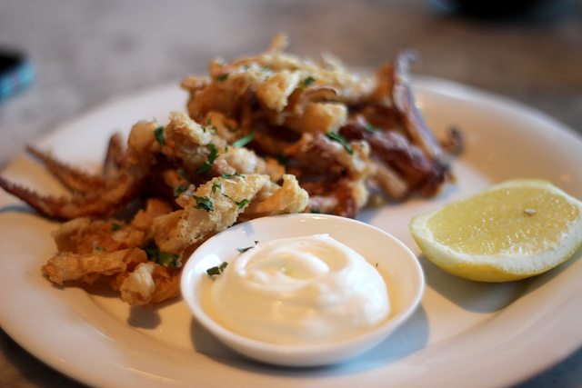 Salt and Pepper Squid with Lemon Mayonnaise - The Drift Bar, London