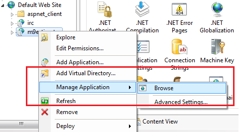 manage application