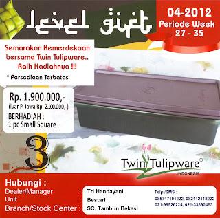 Level Gift Tulipware | Juli - Agustus 2012