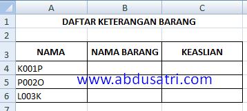 menggabungkan fungsi IF dan string di Excel