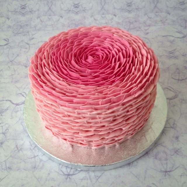 Rose Petal Cake Images : Little Cake House: Ombre Rose Petal Cake