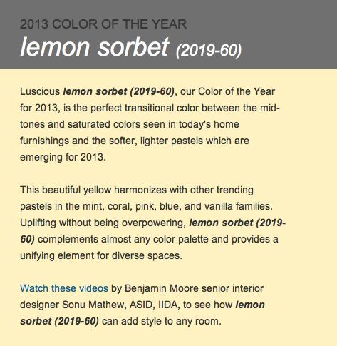 Lemon Sorbet Benjamin Moore we defy augury: november 2012