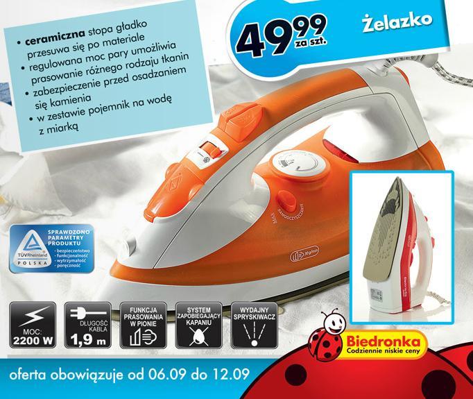 Żelazko Electrical Co 2200W z Biedronki