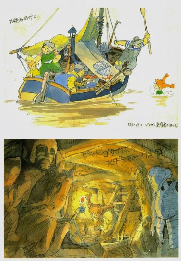 Pippi Calzaslargas bocetos Hayao Miyazaki al estilo Ghibli