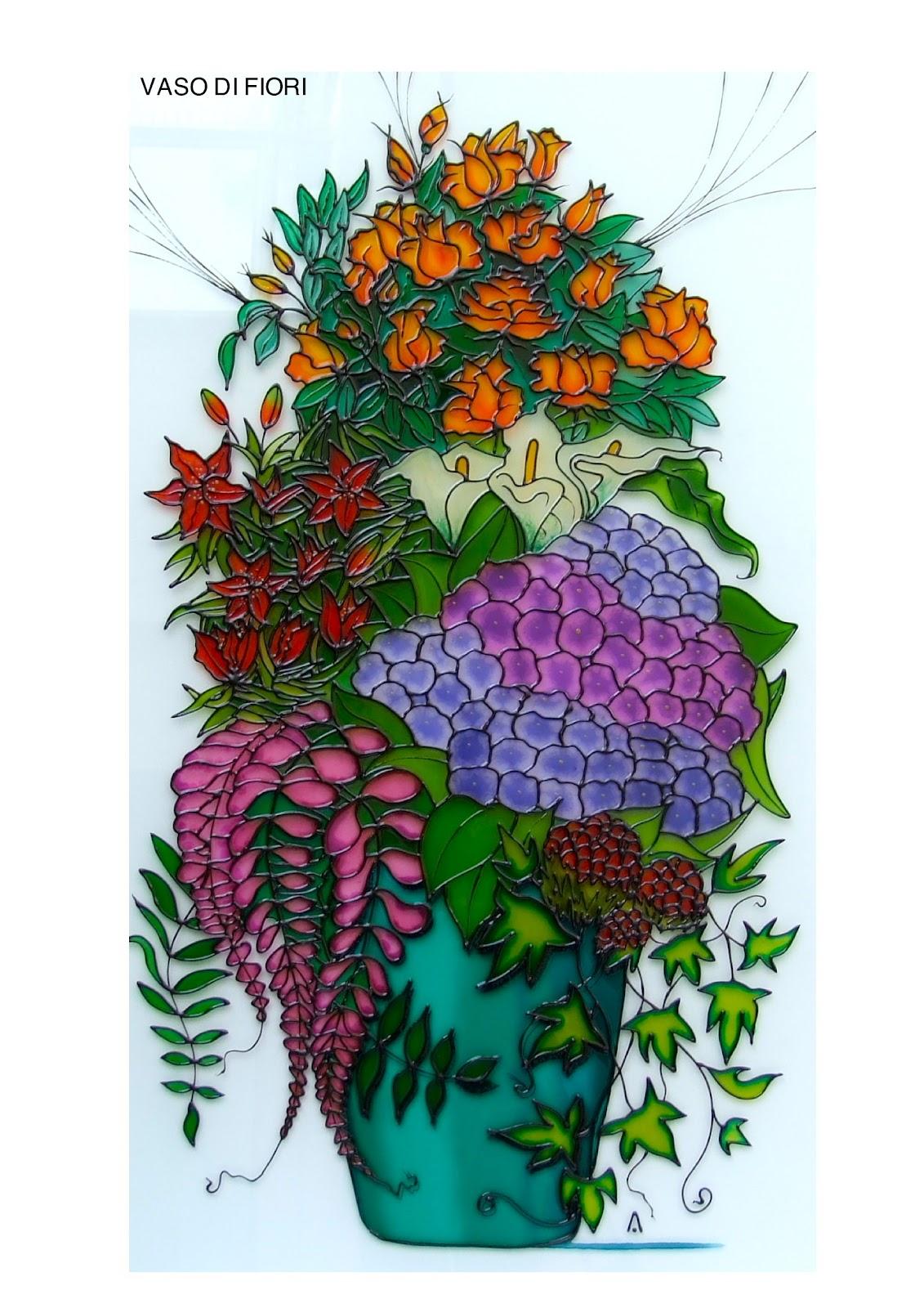 Ariglass vaso di fiori for Vaso di fiori disegno