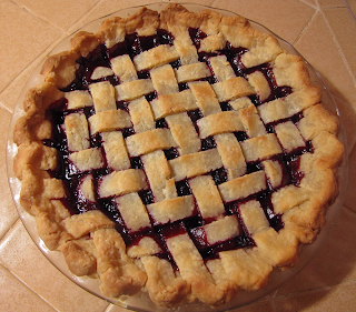 Blackberry Pie with Lattice Top