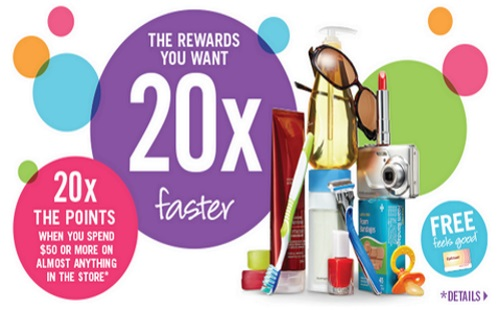 Shoppers Drug Mart 20x Optimum Points When You Spend $50