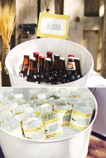 como servir bebidas