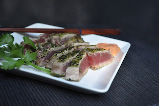 Recipe: Matcha sesame encrusted tuna
