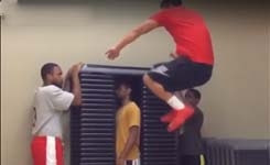 Guy Jumps 75 Inches on Top of 36 Boxes