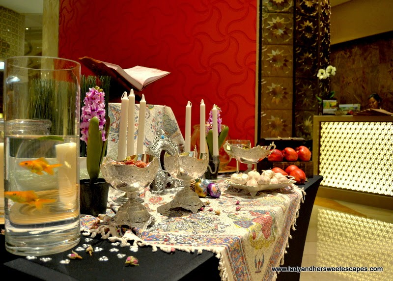traditional Haft Sin in Shayan restaurant