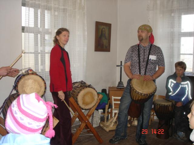 Advent na Krásné 29. 11. 2009 - bubeníci