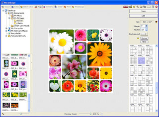 Page : Make one photo by merging multiple photos at the page frame