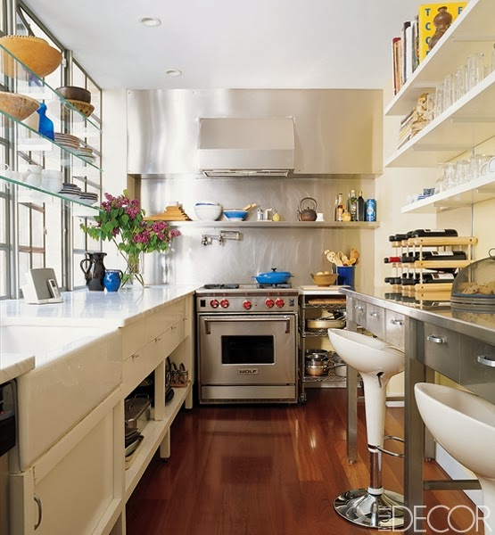Joy of nesting kitchen envy a tour of contemporary for Expanding a galley kitchen
