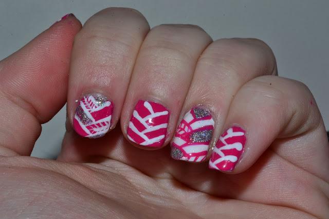 Herringbone Nails by Elins Nails