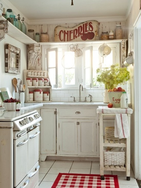 30 cottage kitchens and accessories the cottage market for Small white country kitchen
