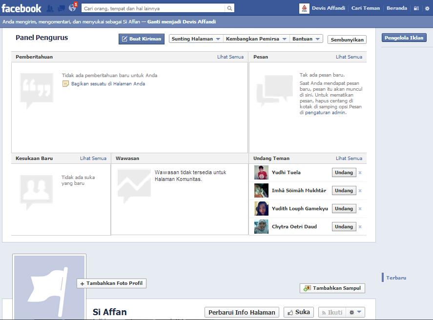 hasil fan page,tampilan fan page,komportekno