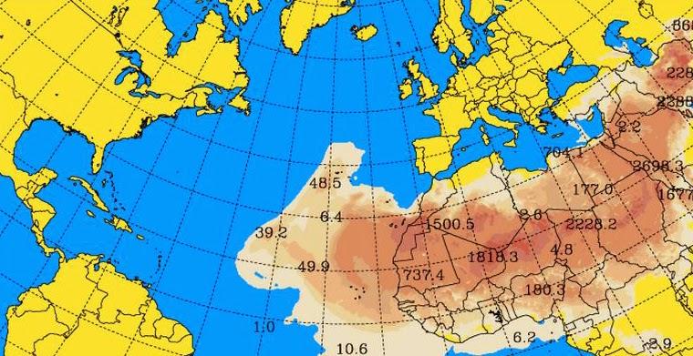 calima Canarias  enero 2015, tormenta arena