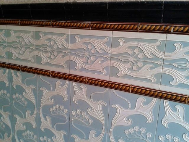 In Berlin There Are Beautiful Ceramic Tiles On The Walls And Floors