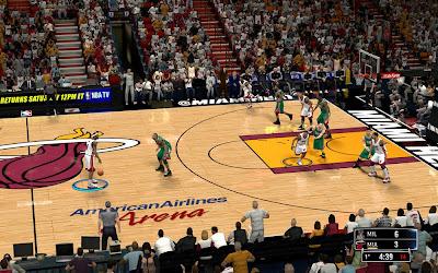 NBA 2K14 Miami Heat HD Court Mod