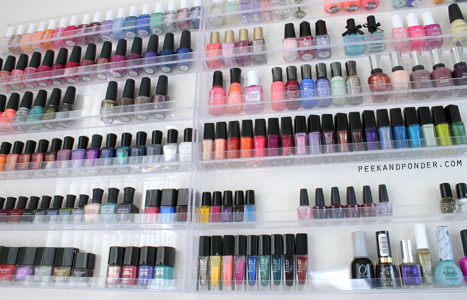 clear nail polish racks