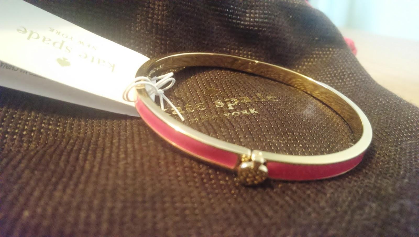 Kate Spade Fuchsia Hinge Bracelet Bangle
