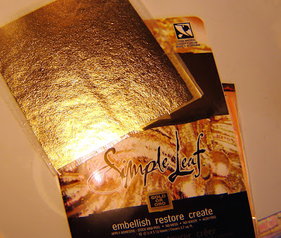 metallic foil, antique effect