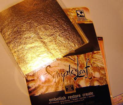 metallic foil, antique effect
