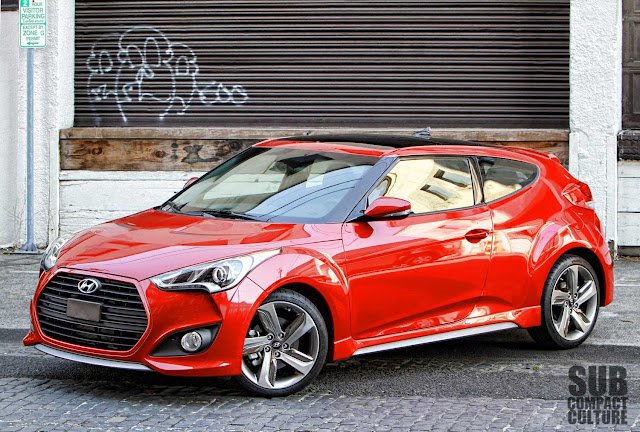Hyundai Veloster Turbo 3/4 shot