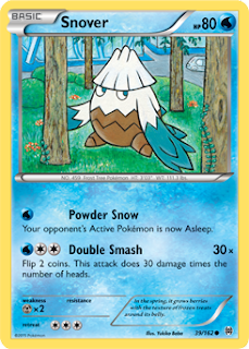 Snover BREAKthrough Pokemon Card
