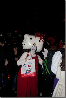 Hello Kitty scary Halloween costume