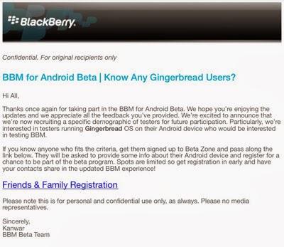 Aplikasi BBM Resmi Untuk Android versi 2 Gingerbread Akan Hadir?