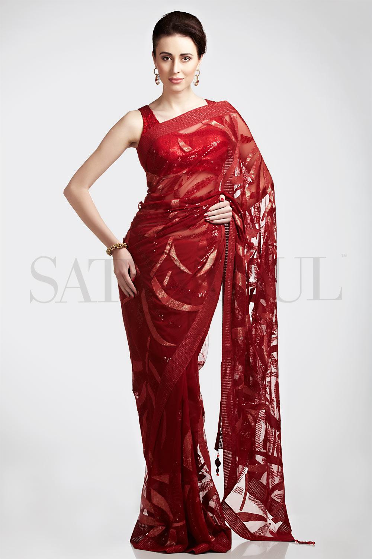 Satya Paul Embroidered Saree 2013  Indian Bridal Sarees