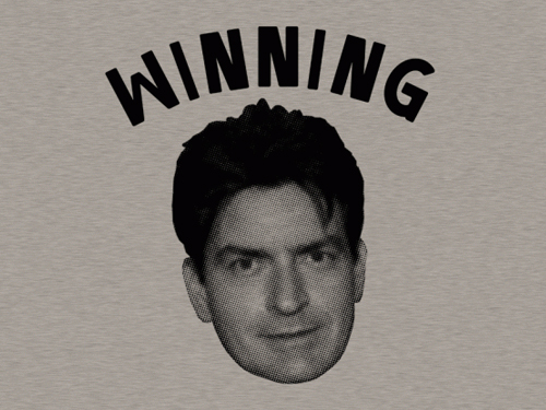 charlie sheen winning gif. winning charlie sheen quotes.