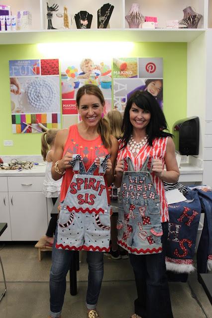 Crafty texas girls diy spirit overalls for Diy school spirit shirt
