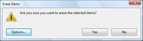 Confirm delete file permanently
