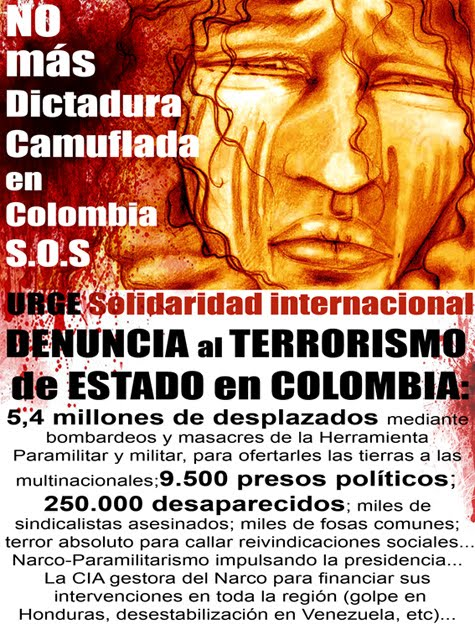 Difunda esta imágen: terrorismo de estado en Colombia cifras