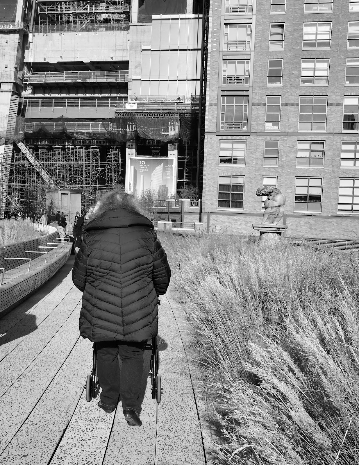 From Behind :: the HIghline #FromBehindtheHighline #NYC #thehighline #frombehind #walker #assistivedevice ©2014 Nancy Lundebjerg