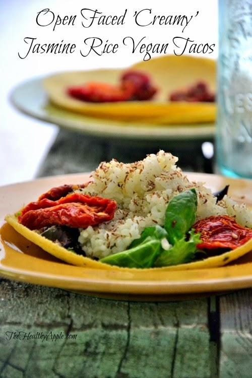 open faced jasmine vegan tacos