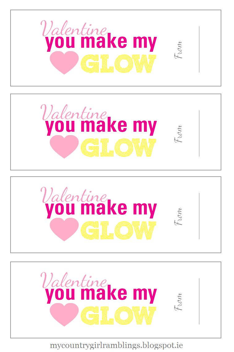 <glowstick valentines printable>