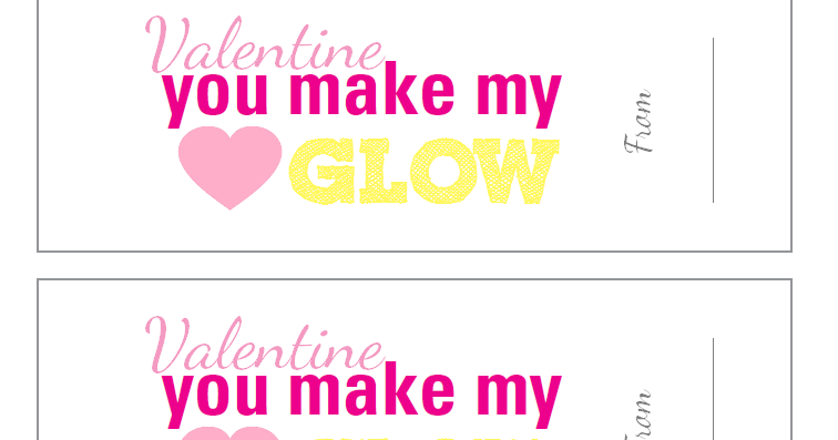Soft image with you make my heart glow printable