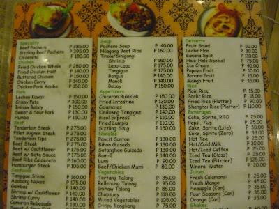 #032eatdrink, food, cebu, pochero, kusina uno menu