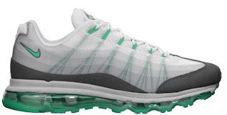 02/06/2013 Nike Air Max \u0026#39;95 DYN FW \u0026quot;Dynamic Flywire\u0026quot; 554715-130 White/Atomic Teal-Dark Grey-Cool Grey $180.00