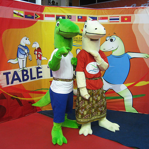Modo and Modi Mascots of the 2011 SEA Games Indonesia Komodo Dragons picture.