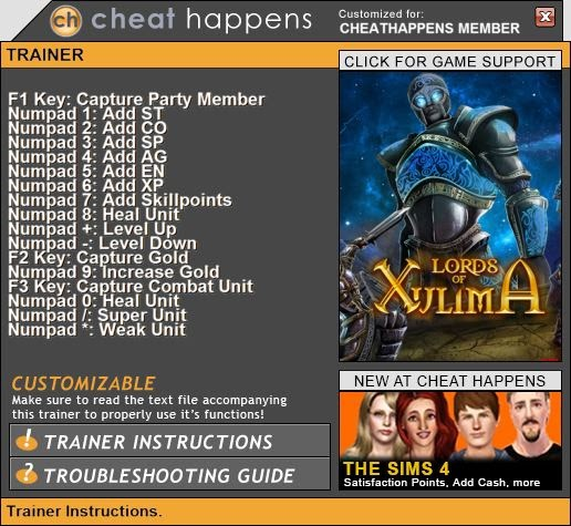cheat happens offline key