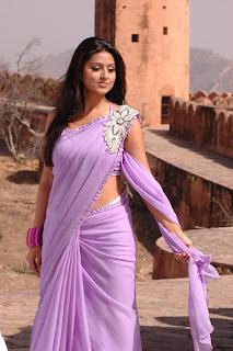 Sneha Spicy Saree Beautiful Movie Stills from movie Murattu Kaalai