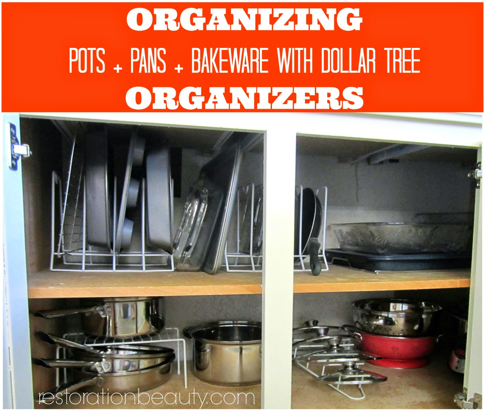 restoration beauty organizing potspansbake ware with dollar, Kitchen design